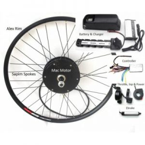 Upgrade Mac Ebike Kit With 36V Frame Battery Pack Option