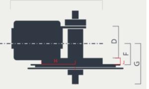 BBSHD Chainwheel Clearance Dimensions