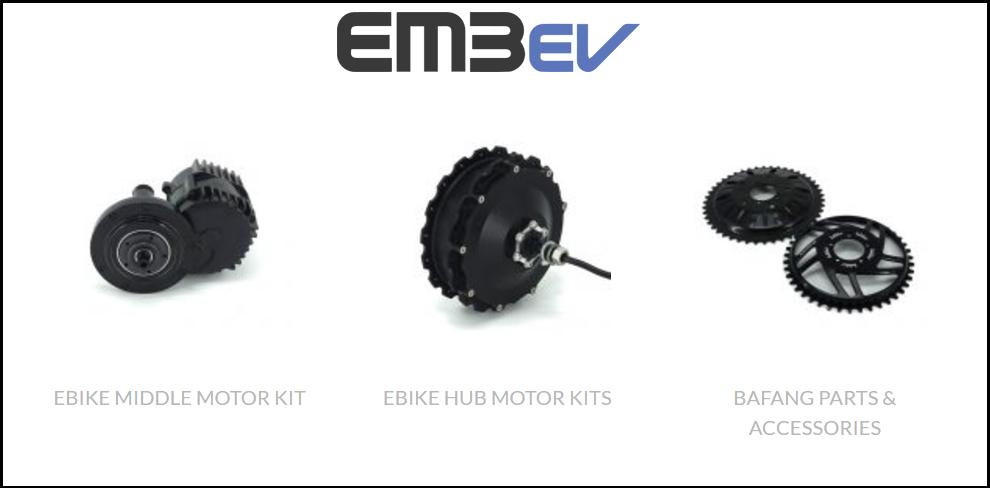 eBike kits, motors and Electric Bike conversion kits | EM3ev